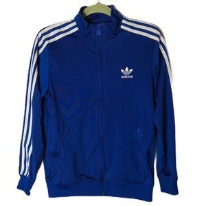 Adidas Royal blue track jacket size L